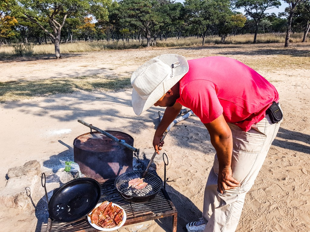 Cooking breakfast - Matamba Bush Camp, Limpopo